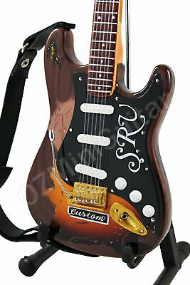 Miniature Guitar Stevie Ray Vaughan Tribute & Strap