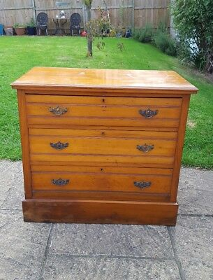 Antique SatinWood Chest of Three Drawers