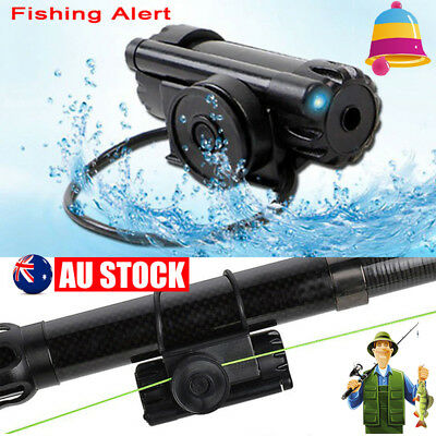 Electronic LED Light Fish Bite Alert Sound Alarm Bell Clip On Fishing Rod Sports