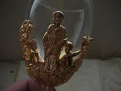 Gold Plated  Goblets By S.A.M, R. Scott Jarvie, Bacchus, Wine god