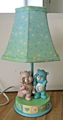 Care Bears Nursery Lamp Vintage Bedtime & Love a Lot ABC
