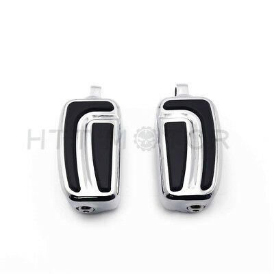 Chrome AirFlow Foot Pegs For 1984-2017 Harley Sportster 1200 Iron Street 500 CVO