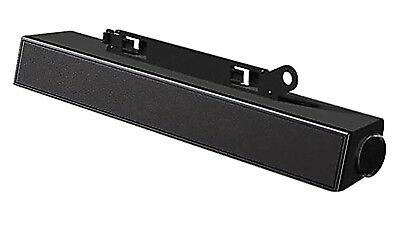 Dell Black Flat Panel Speaker Bar 0C730C New In Box School Surplus