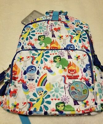 cfb10859e9c Disney Store Inside Out Girls Backpack Joy Sadness Disgust Anger Unicorn  Pixar