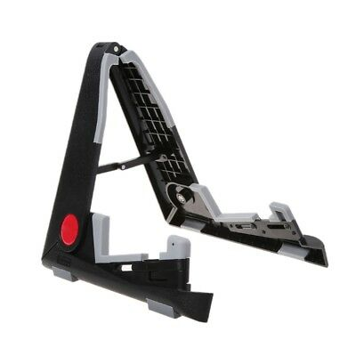 Fold Guitar Stand Black Electric Acoustic Bass Ukelele Violin Mandolin Bracket
