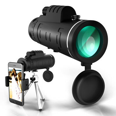 Monocular Telescope High Power 12x50 HD Dual Focus Low Night Vision Waterproof..