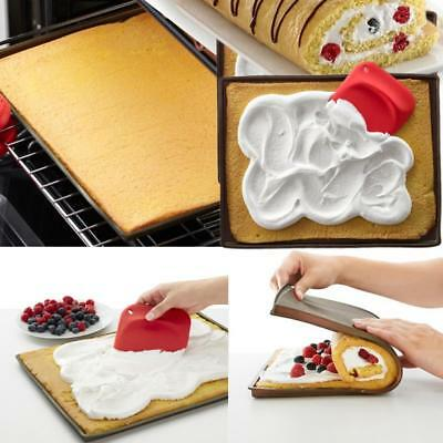 Baking Tray Rolling Silicone Swiss Cake Mat Roll Mold Non Stick Oven