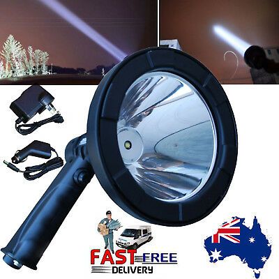 CREE LED 380000LM Rechargeable Spotlight Hunting Hand Held Torch Spot Light Camp