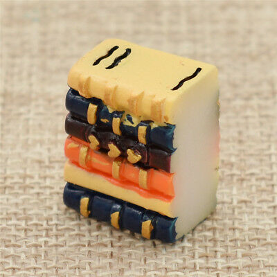 1/12 Scale Resin Mini Books Dollhouse Miniature Accessories for Kid Toy Gifts