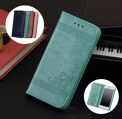 Retro Leather Magnetic Flip Stand Wallet Case Cover For Apple iPhone 6S 7 8 Plus