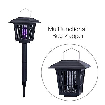YIER Solar-Powered Outdoor Insect Killer/Bug Zapper/Mosquito Killer-