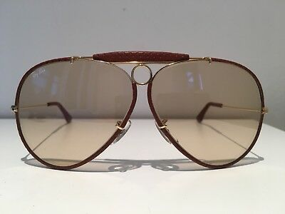 a56456661e9 RAYBAN OSTRICH LEATHER Shooter sunglasses