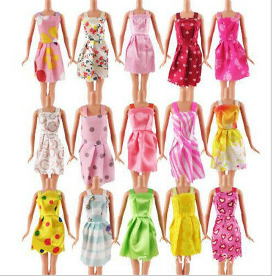 "10Pcs Lot Beautiful Handmade Dresses Clothes For 11"" Barbie Doll Style Random CA"