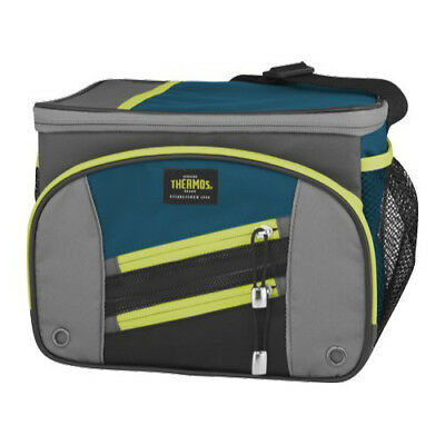 Genuine! THERMOS Highland Insulated 6 Can Cooler Lunch Kit with LDPE Liner Teal!