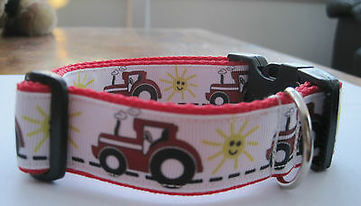 Handmade red tractor dog collar and lead set like massey ferguson case **offer**