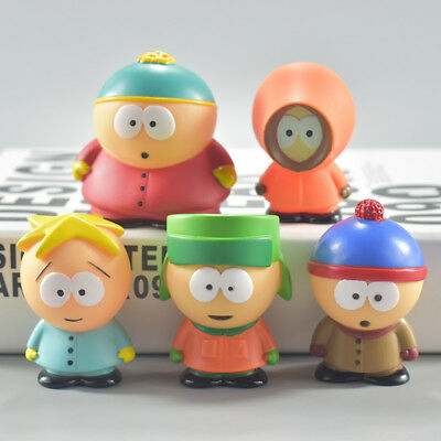 "Set 5pcs South Park Mini Display 2.4"" PVC Figures Kid Dolls Toys 2018 New"