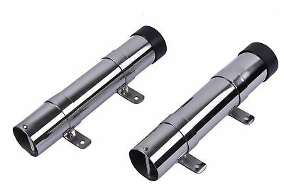 """2X Marine Stainless Steel 10"""" Boat Fishing Rod Holder Side Mount  Removable"""