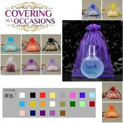 Luxury 100pcs Sheer Organza Wedding Party Favor Gift Candy Bags Jewelry Pouches