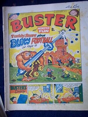 Buster & Monster Fun  Comic.[5Th Nov 1977]   Dinky Toys-Space 1999 Advert