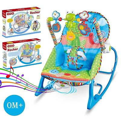 New Baby Bouncer & Rocker  Chair with Soothing Vibration, Music 0+ M