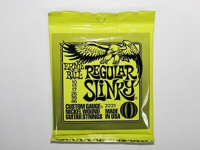 Ernie Ball Electric Guitar Strings Regular Slinky 2221 010-046 New Free Shipping
