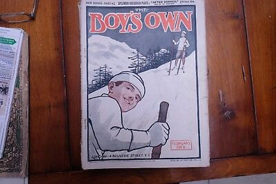 BOYS OWN PAPER: 8 issues from 1912