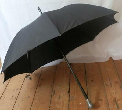 Vintage Mans James Smith & Sons Walking Umbrella With Sheffield Pewter Duck Top