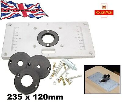Ujk technology 6mm aluminium router table insert plate 7260 235mm x 120mm x 8mm aluminium router table insert plate wood working benches gb greentooth Choice Image