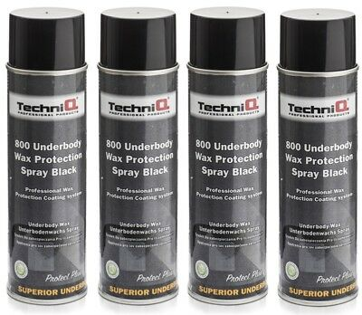 Chassis Wax Waxoil Underbody Rust Proofing Car Body 500ml BLACK x 4 CANS