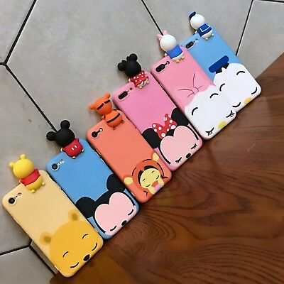 DISNEY MICKEY MINNIE 3D Silicone Case Cover For HUAWEI P20 P8 P9 ...