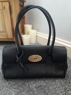 857db27729f0 ... free shipping mulberry bayswater east west small black grainy leather  handbag used a0bf3 bb63f