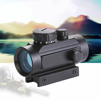 Holographic Illuminated Red Green Dot Reticle Scope Reflex 5 MOA Hunting Mount
