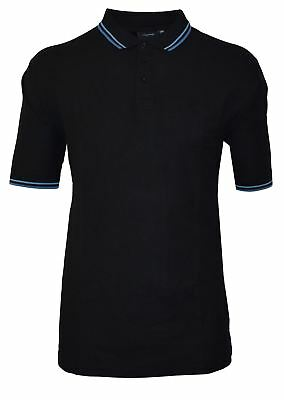 ESPIONAGE Cotton Polo Shirt With Tipping Collar and Cuffs (075A)