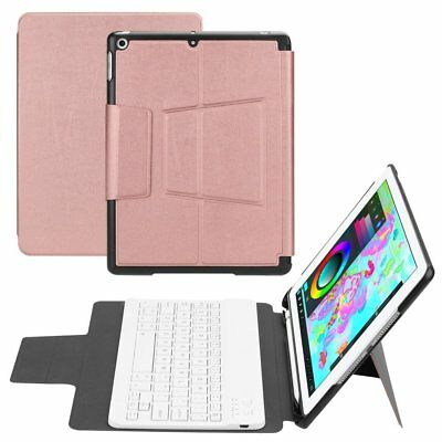 Bluetooth Keyboard Leather Protective Cover Kickstand Cover For iPad 9.7inch DR