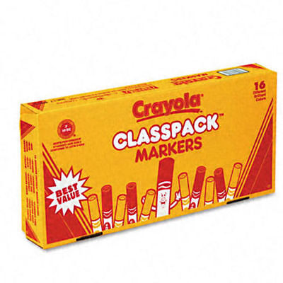 Crayola Classpack Markers, Broad Point, 16 Assorted Colors, 256 PC