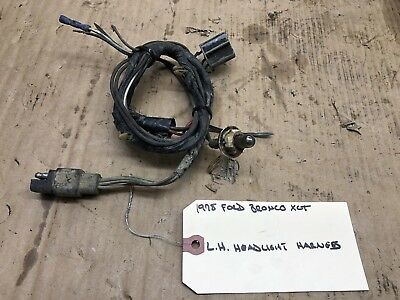 1978 ford f-150 4x4 bronco f250 left right headlight wiring harness 78 79  1979