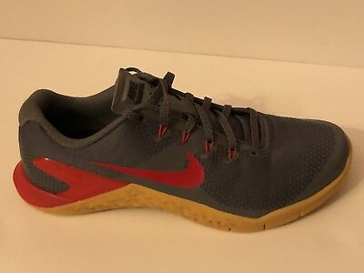 NIKE METCON 4 ID AR5135 991 Grey Red Size 8.5 Men -  89.00  a4e4a926d