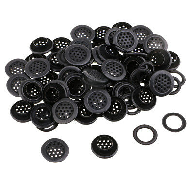 50 Pairs Eyelet Buckle Grommets with Washers Silver/Black for DIY Hand Craft