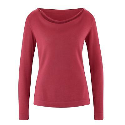 50bf6a41b7 LIVING CRAFTS Merino-Pullover Doreen Bio-Wolle GOTS Made in Germany Fair  Natur