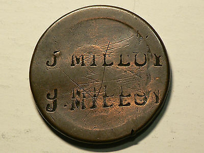 Britain 1797 Pence Triple Counter stamp J MILLUY  #G5155