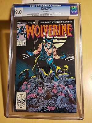 CGC Graded Wolverine #1 ongoing CGC 9.0! First ongoing series!