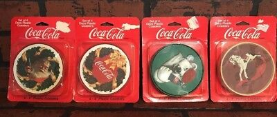 Coca Cola plastic Coasters Lot