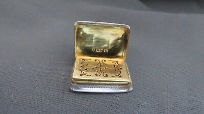 A Fine Nathaniel Mills Silver Vinaigrette-Dated 1840