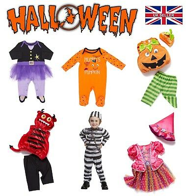 New Halloween Baby Devil Pumpkin Witch Skeleton Outfit Costume Fancy Dress Party
