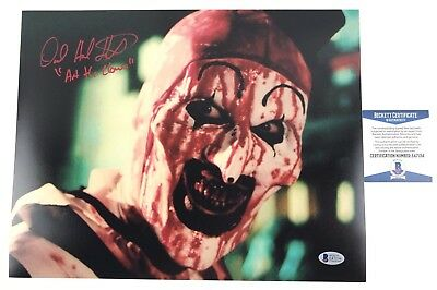 DAVID HOWARD THORNTON signed 11x14 Photo Art the Clown TERRIFIER Beckett