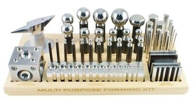 43 Piece Dapping Punch Set Swage Block Forming Set Metal Forming Jewelry Making