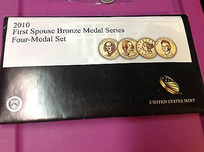 2010 FIRST SPOUSE BRONZE MEDAL SERIES - Four MEDAL SET 4th YR. ISSUE BY U.S MINT