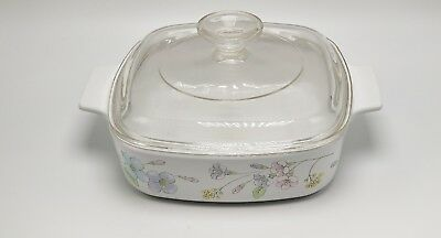 Corning Pastel Bouquet A 1 B 1-quart covered casserole with A 7 C lid