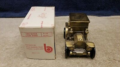 1974 Banthrico's 1908 Buick Cast Metal Car Coin Bank 1st Federal Savings Mich.