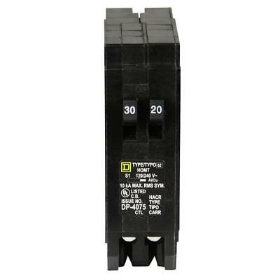 Single Pole Tandem Circuit Breaker Homeline 1 30 Amp 1 20 Amp HOMT3020CP 1 Pack